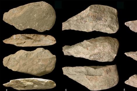 Varias de las herramientas de piedra de hace 1,7 millones de años.