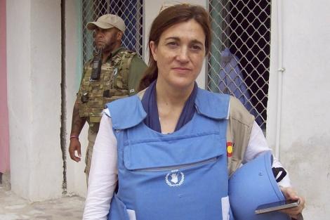 La secretaria de Estado de Cooperación durante una reciente visita a Somalia.| EFE
