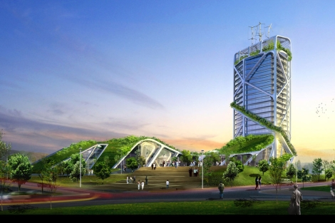 El rascacielos bioclimático del arquitecto Ken Yeang. | ELMUNDO.es