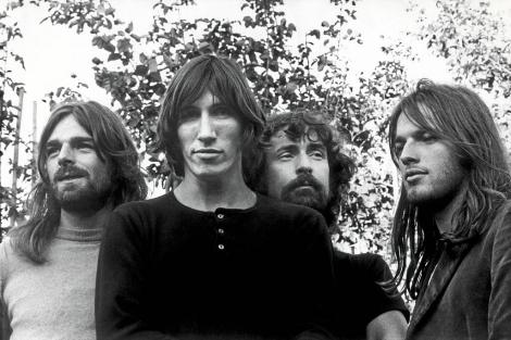 Los miembros de Pink Floyd, en los años 70.