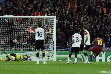 Messi, tras marcar un golazo. (EFE)