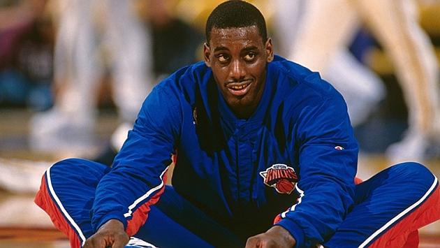 Anthony Mason cuando entrenaba con los Knicks / FOTO: Nba.com
