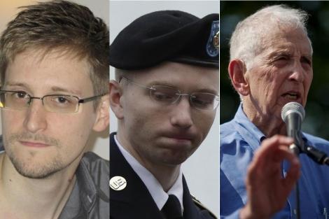 Snowden, Manning y Ellsberg.| Reuters / Afp