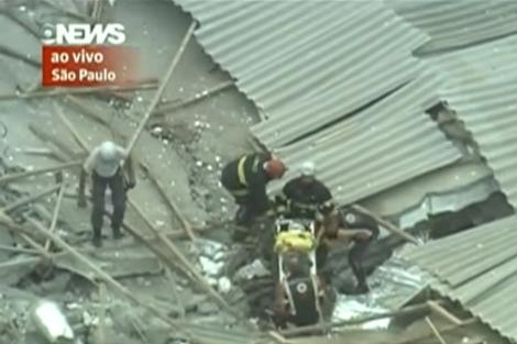 Imágenes del derrumbe de un edificio en Sao Paulo | Globo.com