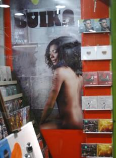 Cartel de Concha Buika en la librería Mephisto, Estambul, 2011. Foto: Ilya U. Topper