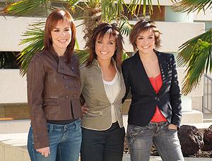 De izda. a dcha., Mamen Mendizábal, Helena Resano y Cristina Villanueva. (Foto: La Sexta)