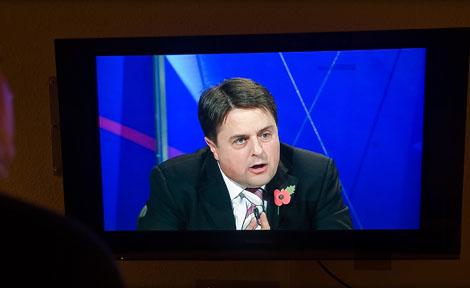 Nick Griffin en el programa de la BBC. | AP