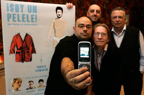 Hernán Migoya (centro) con Jordi Ordóñez y los hermanos Calatrava. | D. Sinova