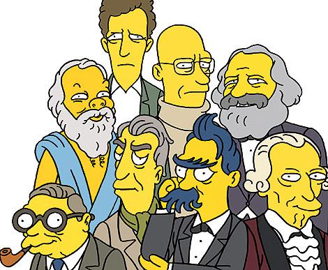 La 'premier league' de los filósofos, según Los Simpson.   El Mundo