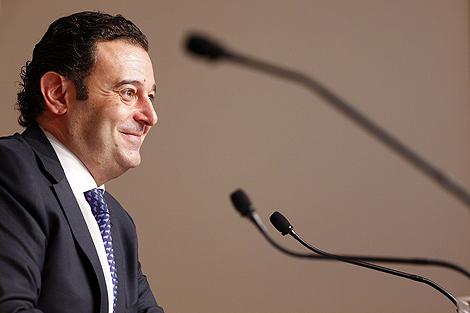 El conseller de Economía, Gerardo Camps, tras el pleno del Consell. | Vicent Bosch
