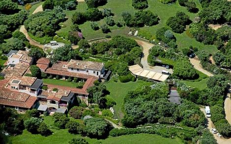 Imagen aérea de Villa Certosa (Cerdeña). | Sestini - ElMundo.es
