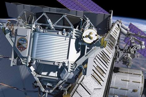 Recreación del espectrómetro magnético Alpha (AMS-02)