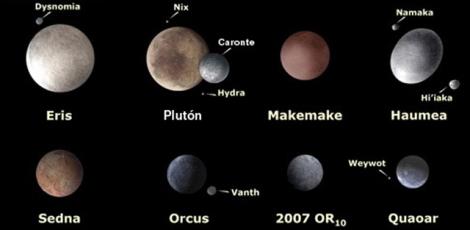Algunos de los mayores TNOs que se conocen | NASA, ESA, A. Feild (STScI)