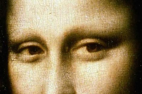 Un detalle de 'La Mona Lisa' de Leonardo Da Vinci.