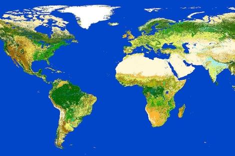 El mapamundi elaborado con la información del satelite Envisat.   ESA