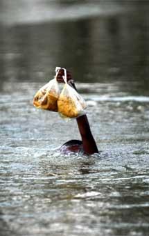 Una víctima de las inundaciones. | AFP