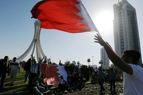 Manifestantes en la Plaza Lulu en Manama (Bahrein). | Efe