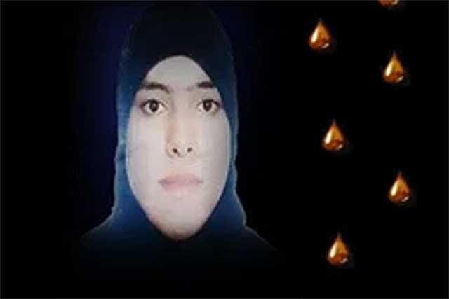 Captura de un vídeo de los opositores sirios sobre la joven.