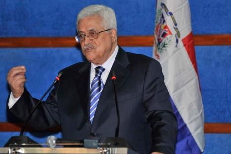 Abu Mazen durante su comparecencia en Santo Domingo. | Efe