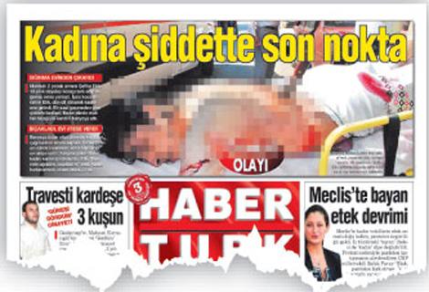 Portada difuminada del periódico 'Habertürk'.