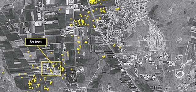 Parte del mapa con los cráteres distribuido por AI.  Reuters