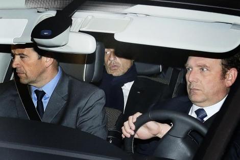Nicolas Sarkozy, a la salida del juzgado. | Afp