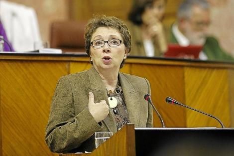 La consejera de Hacienda y Administración Pública, Martínez Aguayo.   Esther Lobato