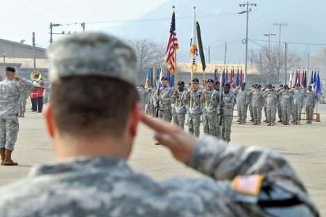 Soldados estadounidenses, en una base cercana a Seúl (Corea del Sur). | Afp