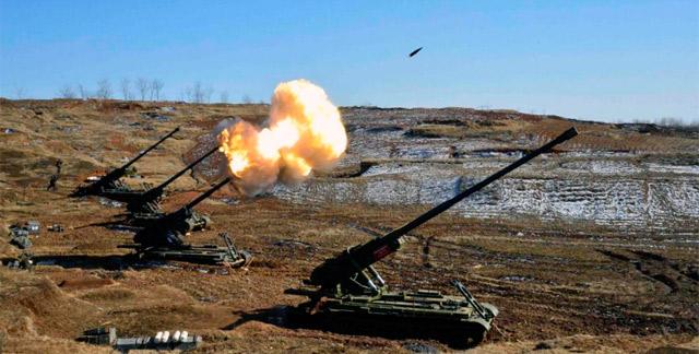 El Ejército norcoreano prueba su armamento. | Afp