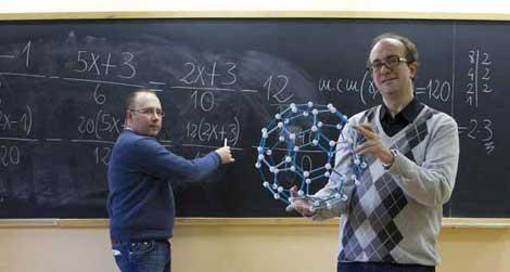 Los profesores Juan Medina (i) y Fernando Blasco. | Sergio Enríquez