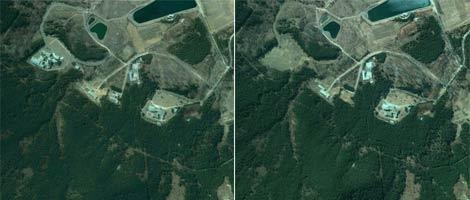 El palacio de Nampo se levantó en 2002. Dos años más tarde había desaparecido. | Google Earth