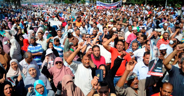 Protestas de los Hermanos Musulmanes en el Norte de Egipto.   Afp