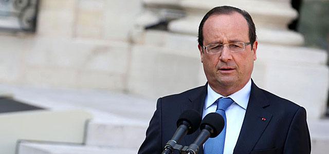 El presidente francés, François Hollande, en el Palacio Presidencial. | Afp
