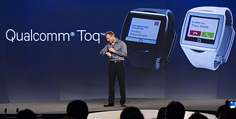 Presentaciçón de Toq, el reloj 'inteligente' de Qualcomm. | Reuters