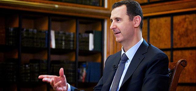 El presidente sirio, Bashar Asad, durante una entrevista en Damasco.   Afp
