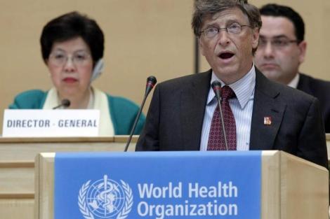 Bill Gates durante su intervención ante la OMS.| Reuters | Denis Balibouse