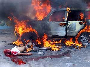 Mercenario muerto en Faluya (Fuente: Reuters)