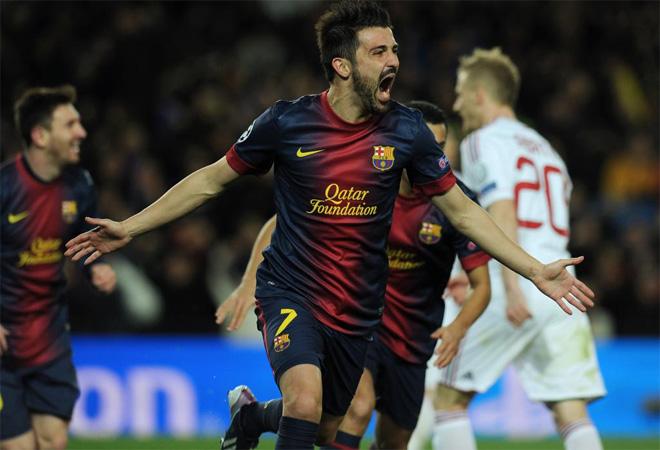 Villa hizo el tercero y completó la remontada. Apoteósico Barcelona.