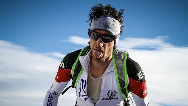 Kilian Jornet en la Vertical Race. Foto: ismfskievents.com