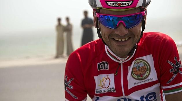 Rafa Valls durante la última etapa del Tour de Omán. AFP
