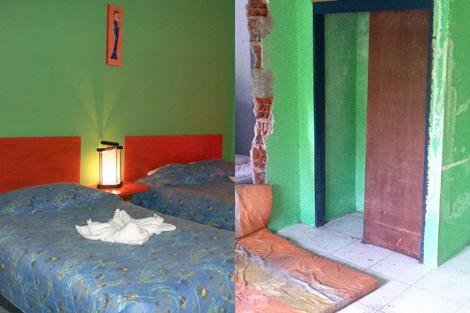 Las habitaciones, antes y después.