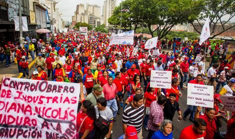 Los manifestantes contrarios a Capriles.| Efe