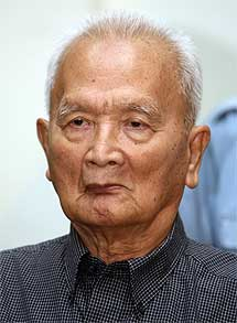 Nuon Chea, el ideólogo y 'número dos' de la organización.| afp