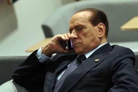 Silvio Berlusconi, en la última cumbre europea en Bruselas. | Afp
