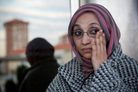 La activista Aminetu Haidar recibe este miércoles el premio René Cassin en Vitoria. | Mitxi