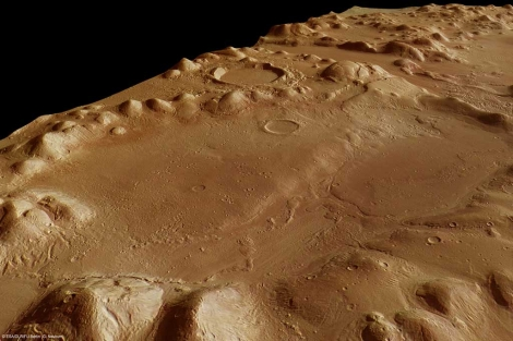 La cordillera de Phlegra Montes de Marte, que oculta gran cantidad de agua. | ESA