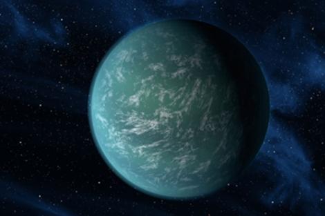 Recreación artística del planeta 'Kepler 22b'.   NASA