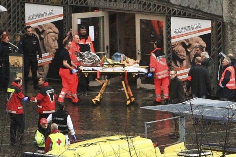 Imagen del lugar atacado: la Plaza Saint-Lambert de Lieja, en Bélgica. | Reuters