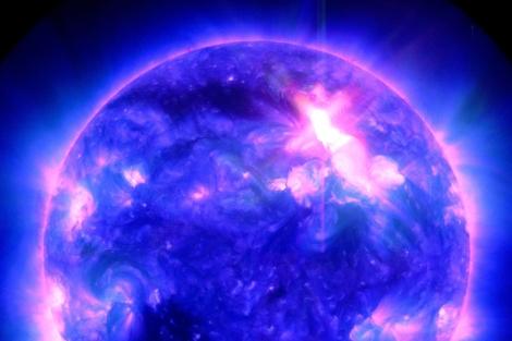 Imagen captada por el Observatorio Solar de la NASA.