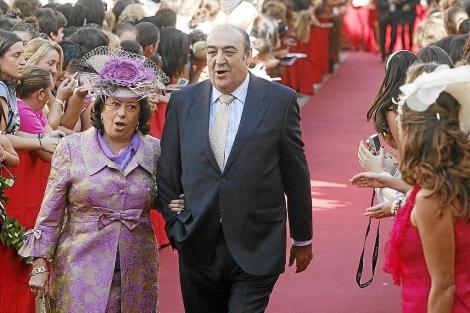 Pepe 'Peregil', en la boda de Pastora Soler en 2009.